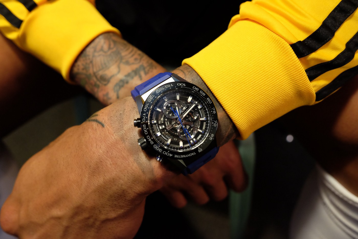 Tim Howard wristshot with his TAG Heuer Carrera