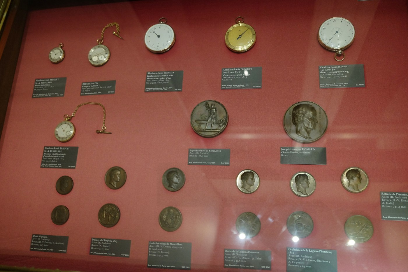 As the watchmaker to Royalty, such as Napoleon Bonaparte, Breguet timepieces shown here are on display at the Louvre