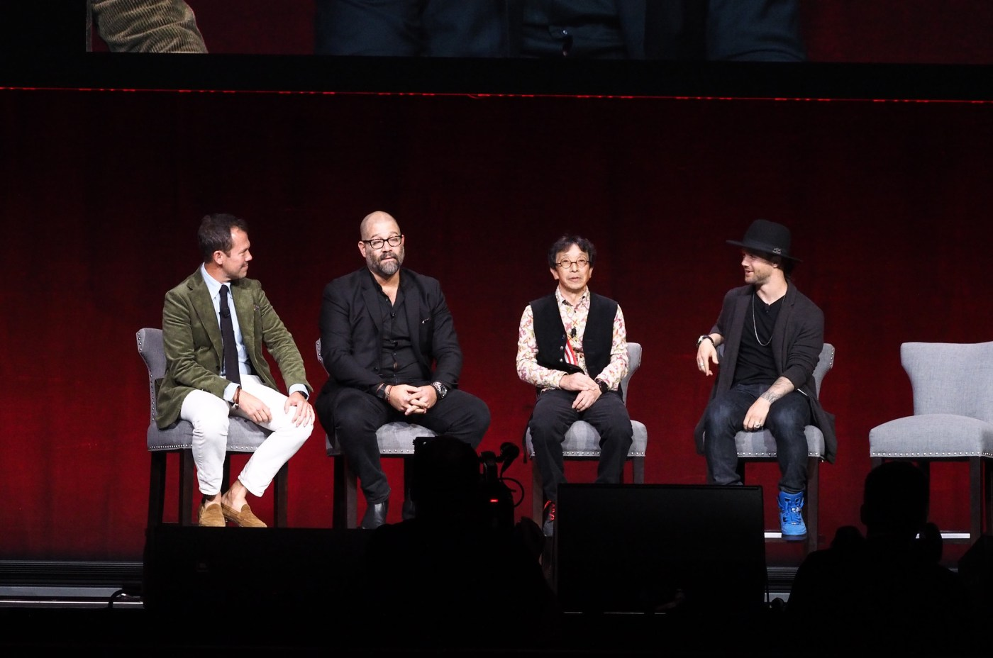G-Shock 35th Anniversary event at Madison Square Garden November 2017. Left to right: Matt Hranek, Adam Craniotes, Kikuo Ibe, Louie Vito