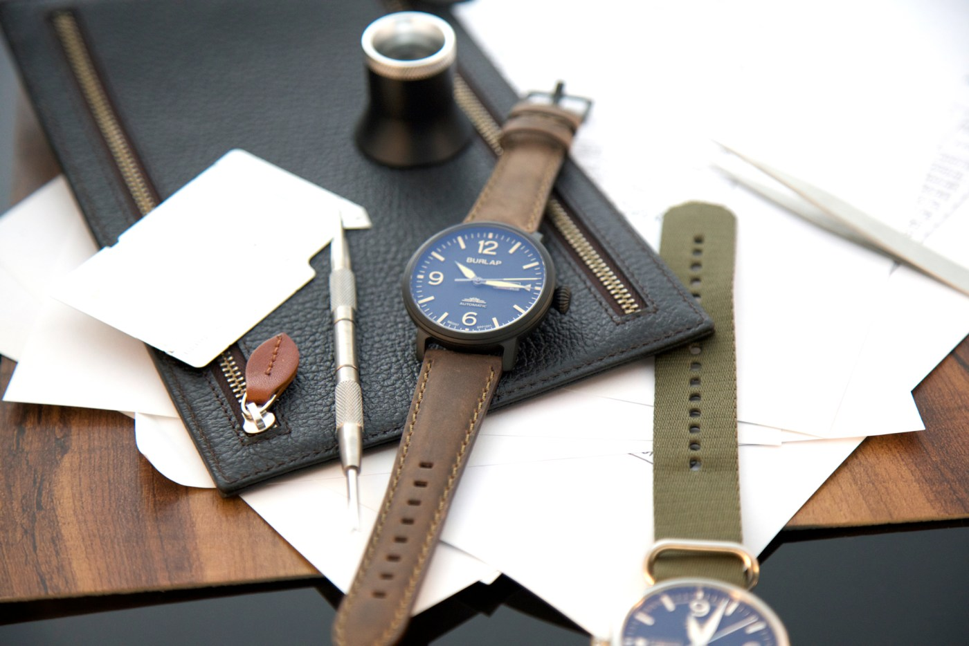 Burlap Automatic watches