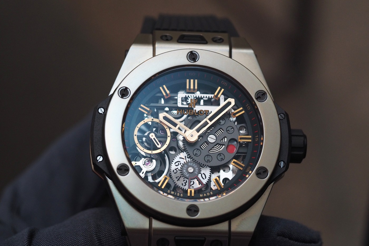 Hublot Big Bang Meca-10 Full Magic Gold