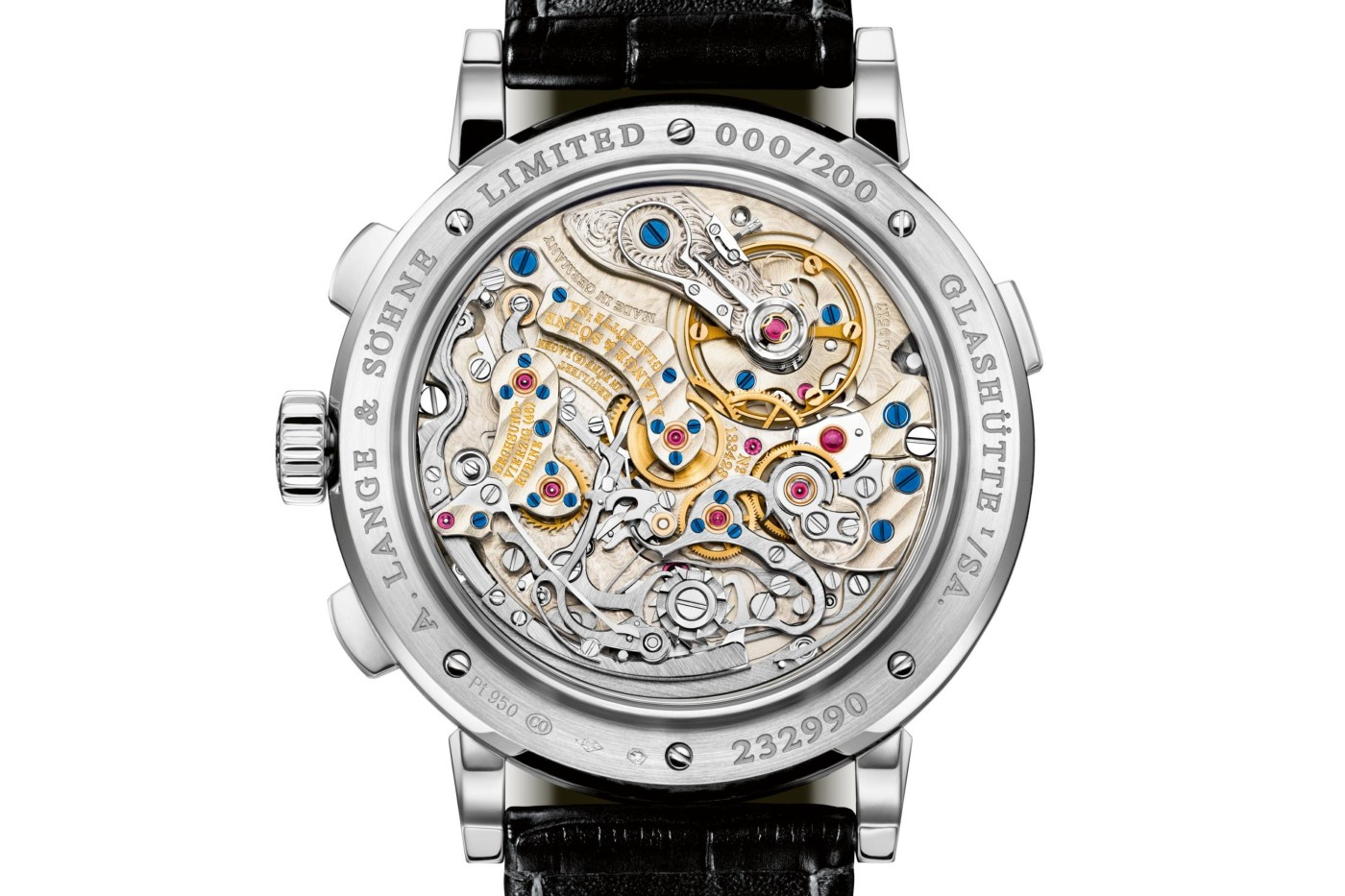 Lange Datograph Up/Down Lumen caseback