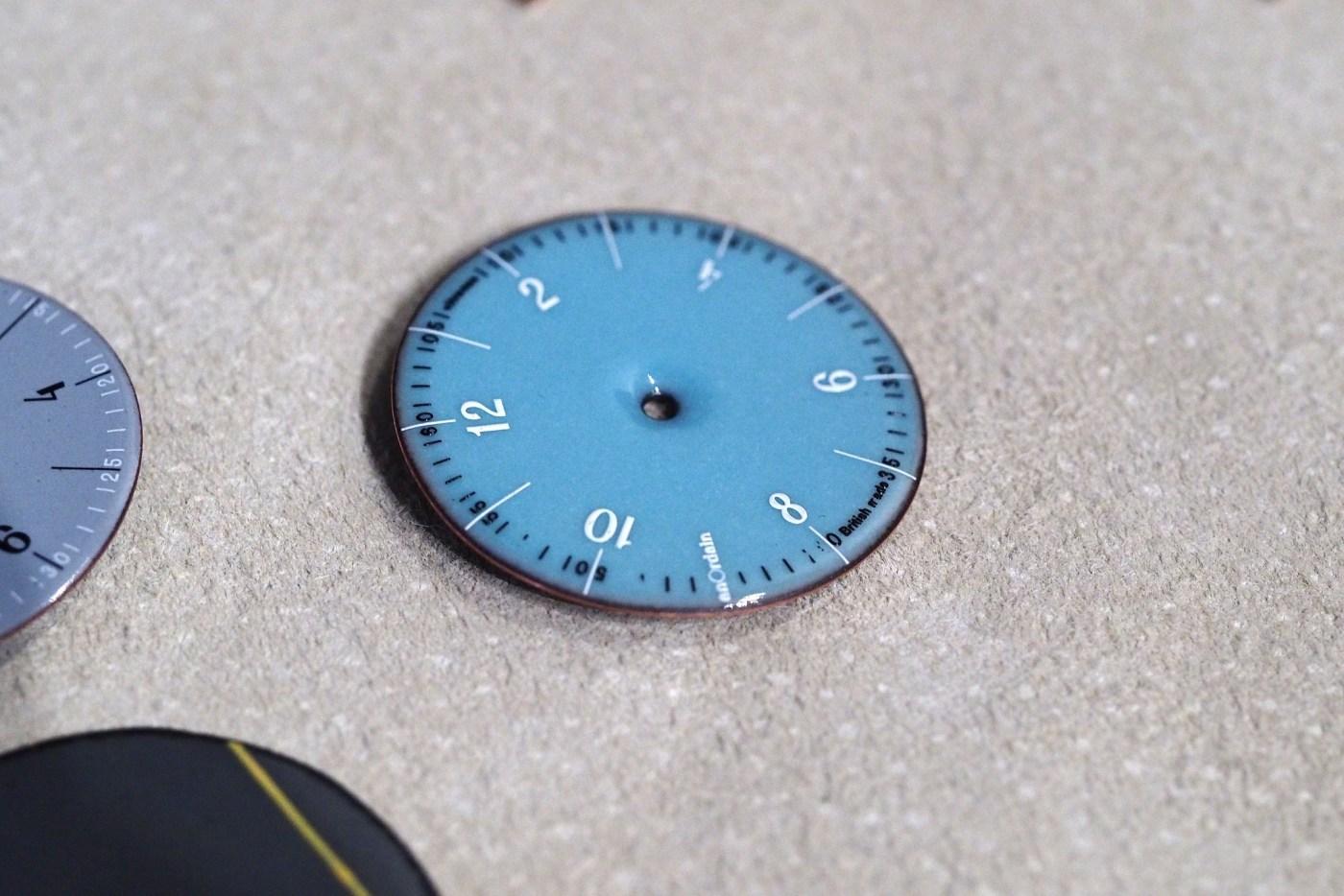 Enamel dial from Anordain