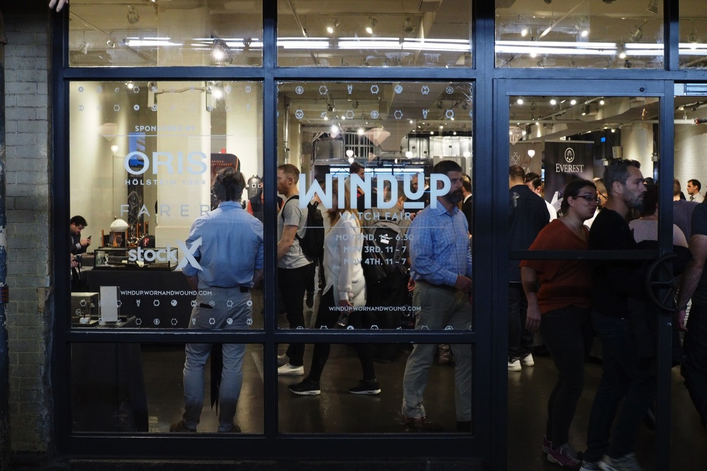 Windup Watch Fair NYC 2018 viewed from inside Chelsea Market