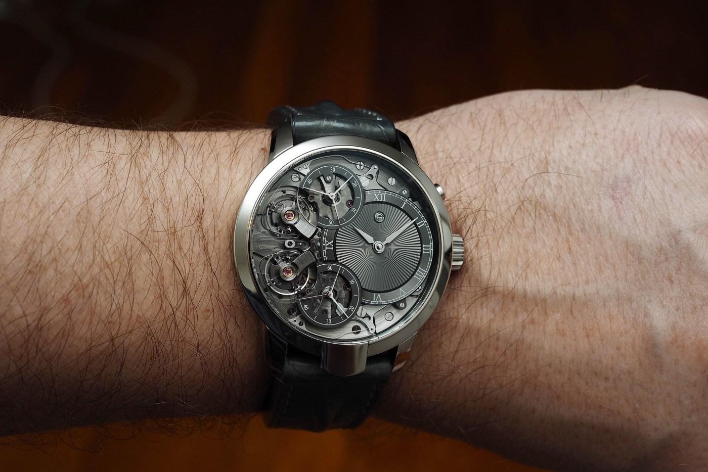 Armin Strom Mirrored Force Resonance wristshot close-up
