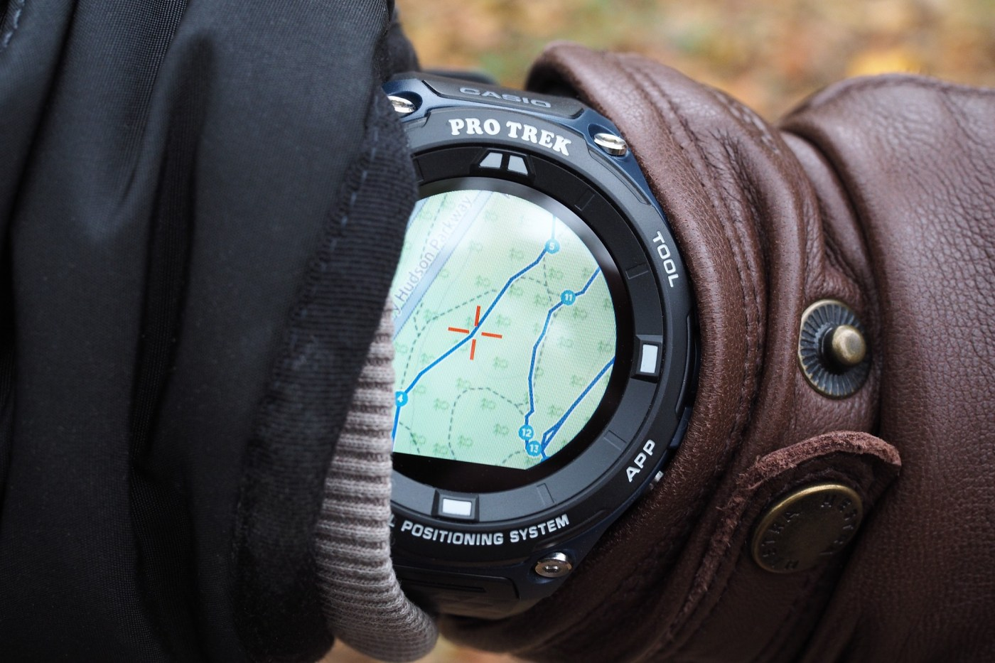 Casio Pro Trek Connected using GPS