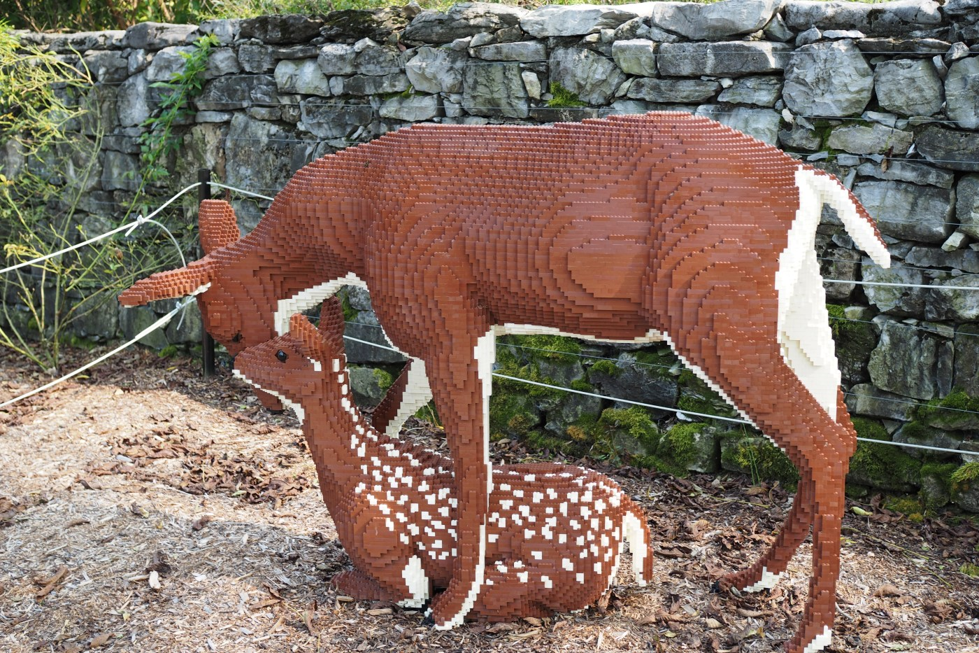 Nature Connects Lego Deer scene