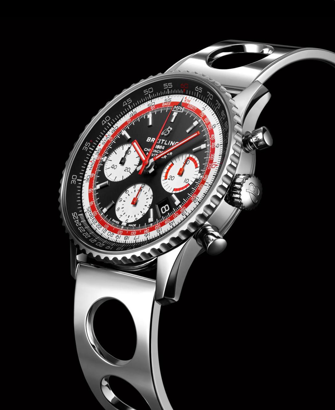 Breitling Navitimer SwissAir on Ocean Racer bracelet