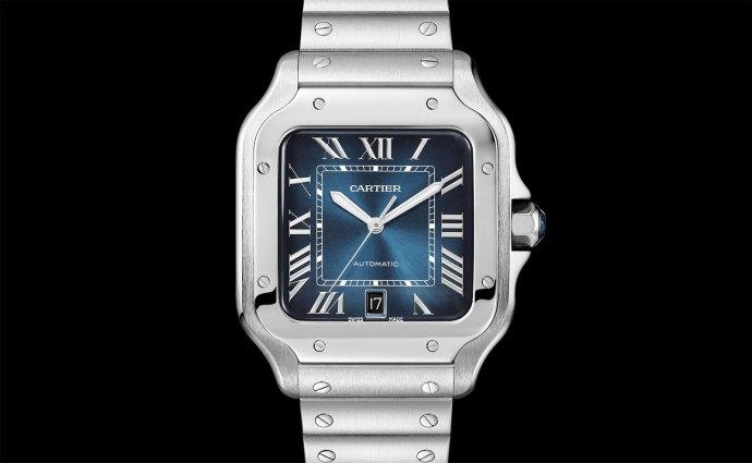 Cartier Santos Blue Gradient dial SIHH 2019