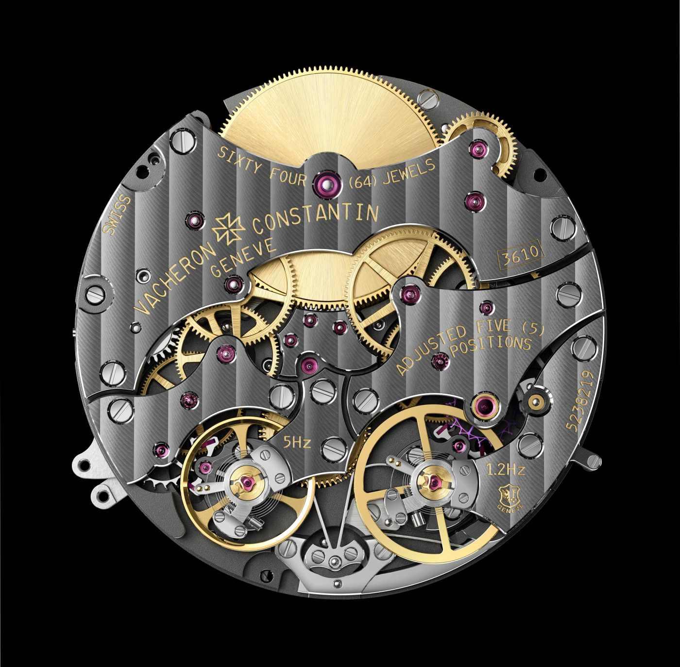 Vacheron Constantin caliber 3610 QP with dark NAC coating