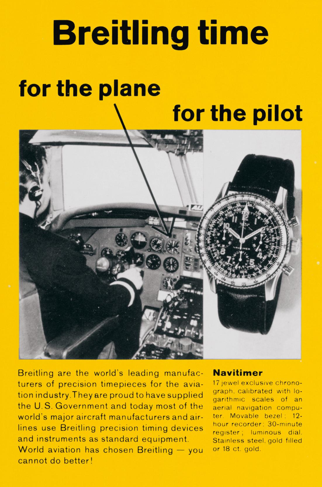 Vintage Breitling Navitimer Advertisement