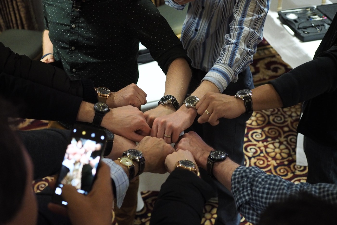 Group Wristshot at end of AWCI Build-A-Watch December 2018