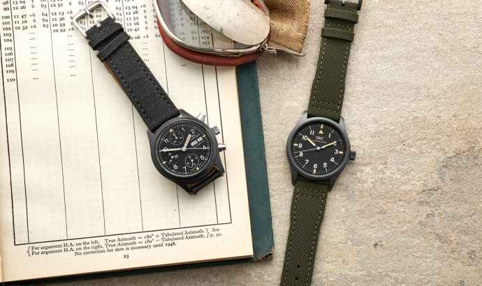"Pilot's Watch Mark XVIII Edition ""Hodinkee"" and reference 3705 Fliegerchronograph"