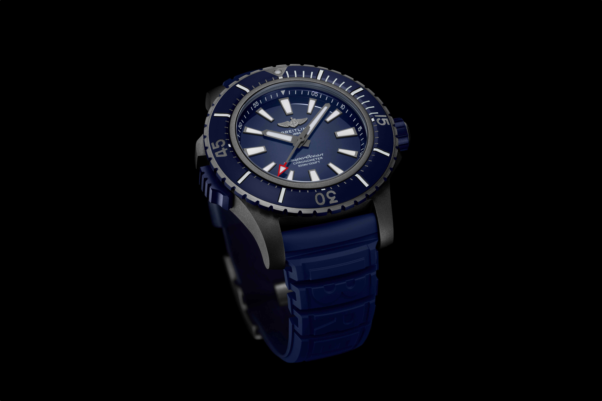 Breitling Superocean 48 black titanium with bleu ceramic bezel