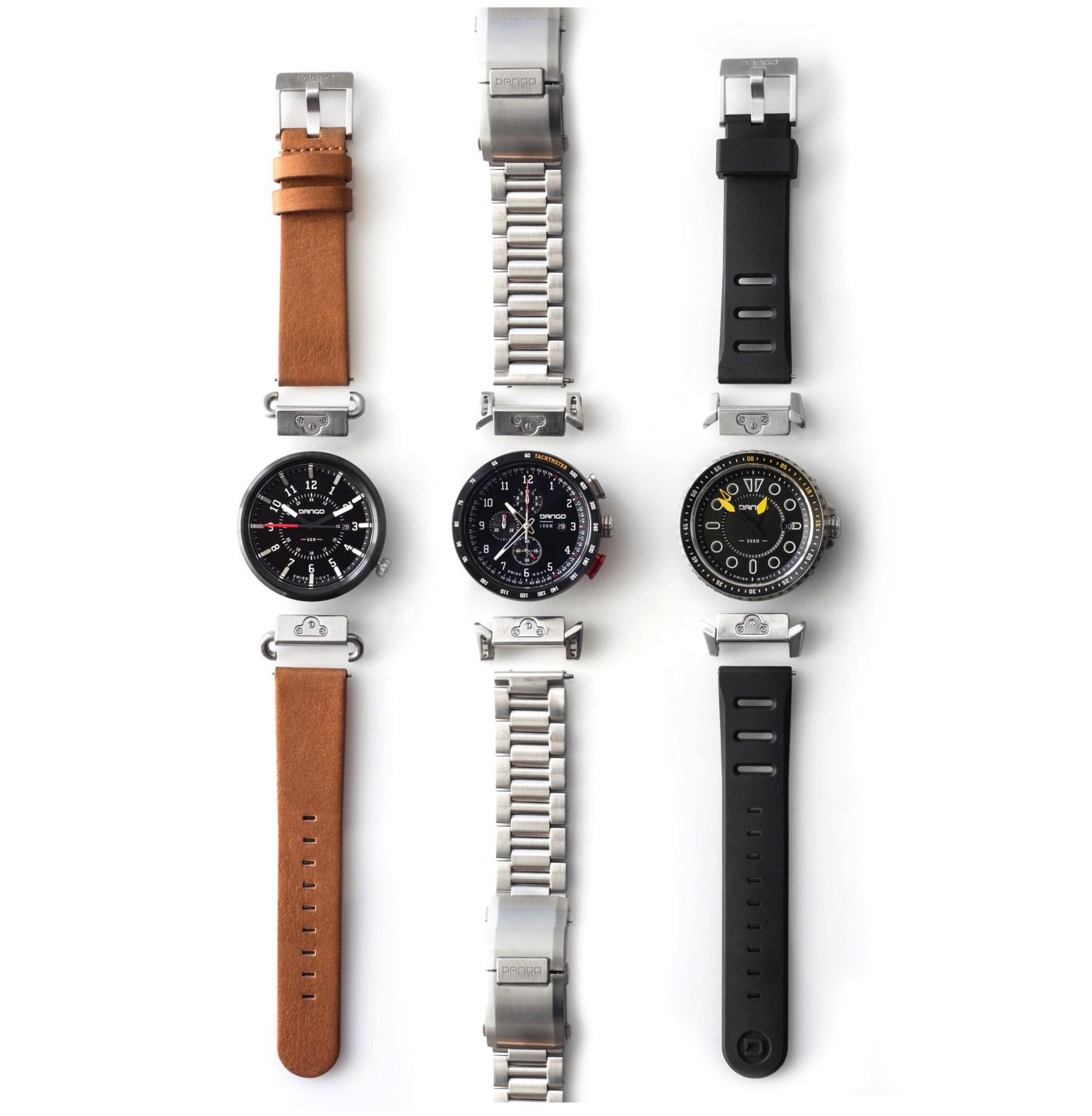 Deconstructed Dango modular watches three models