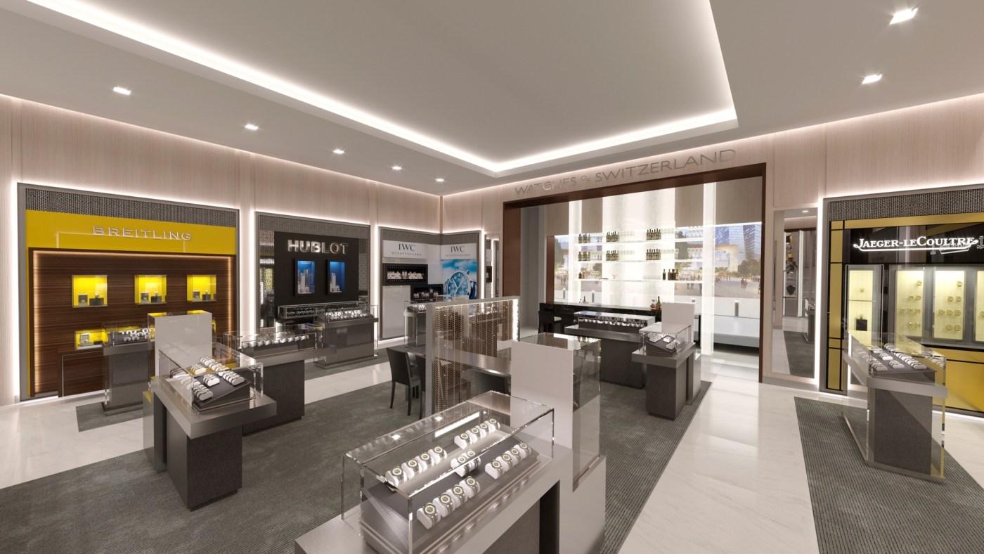 Watches of Switzerland Hudson Yards interior rendering