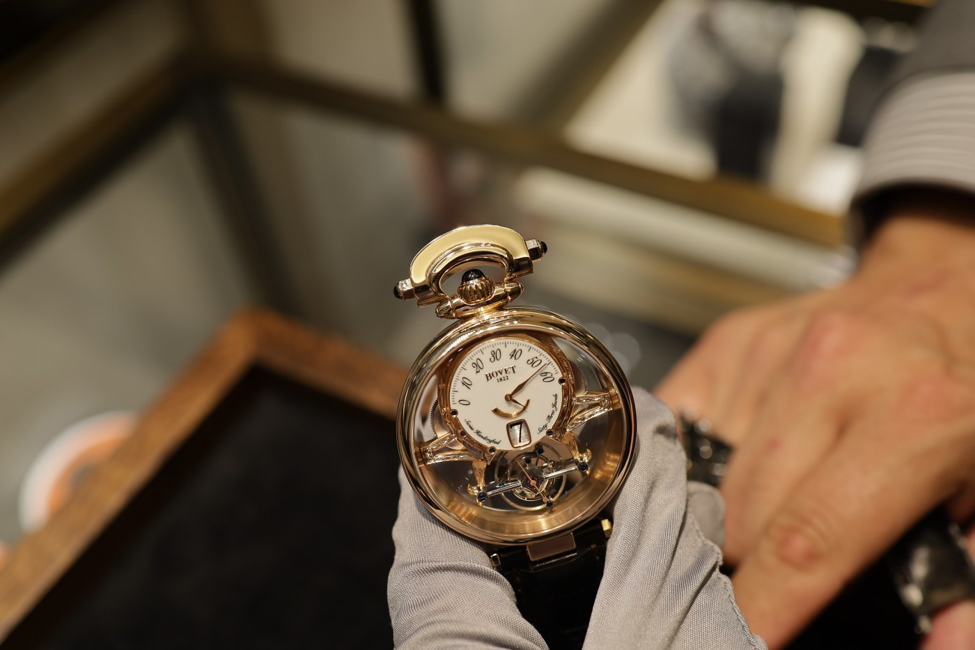 Bovet reversible tourbillon wristwatch/pocketwatch