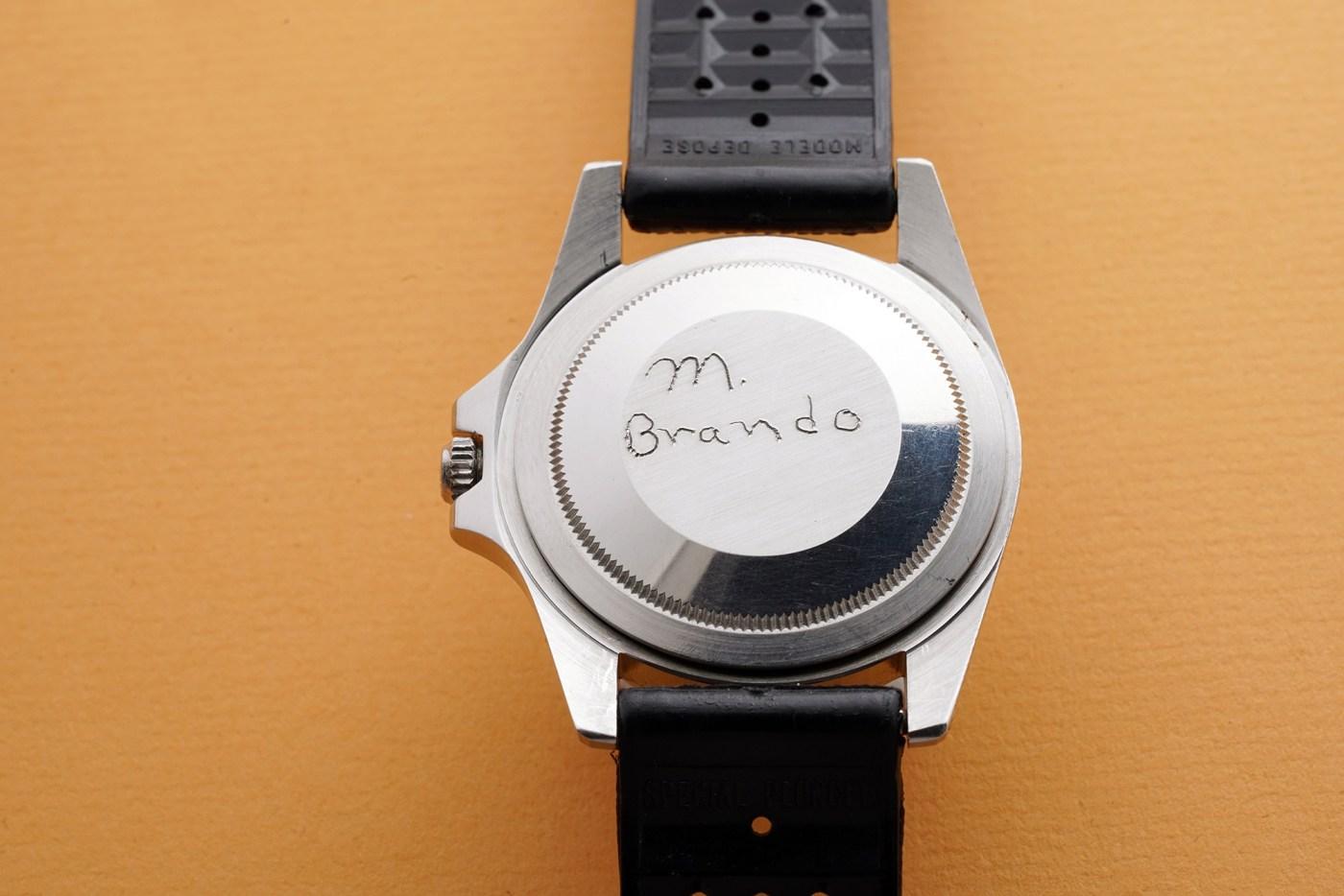 Marlon Brando Rolex 1675 GMT-Master caseback