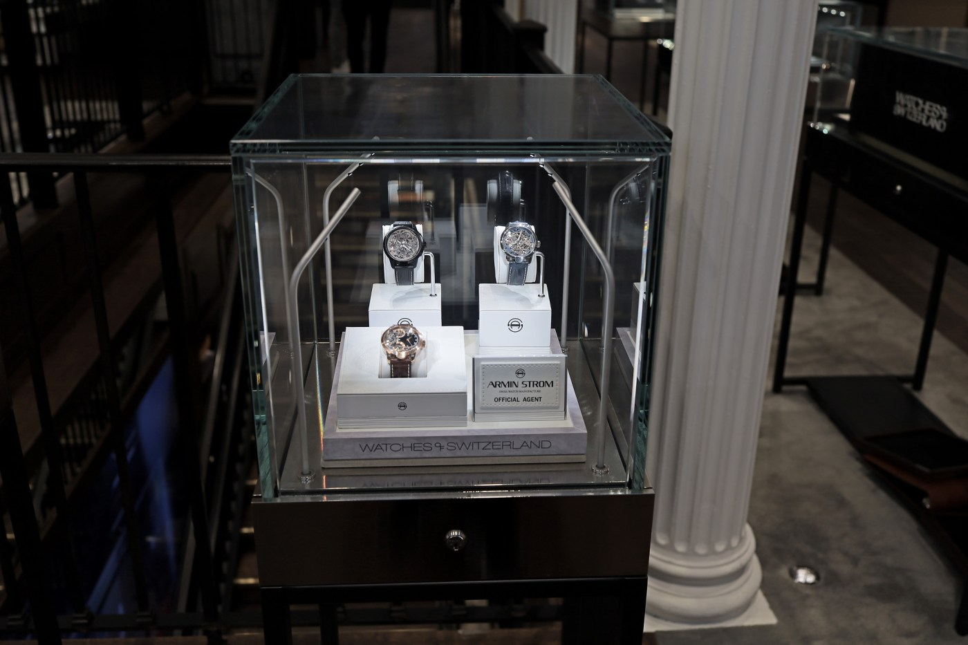 Armin Strom display at Watches of Switzerland SoHo