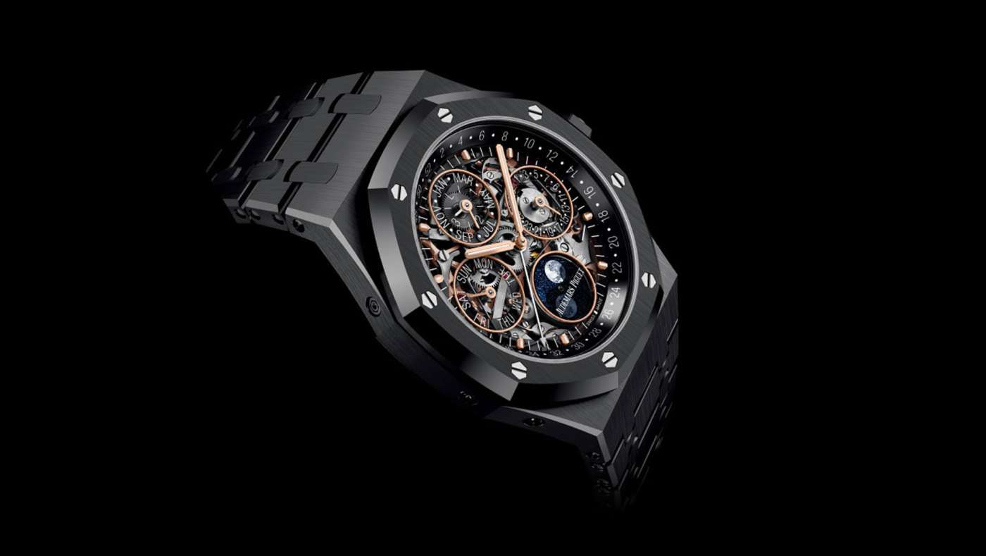 Audemars Piguet Royal Oak Perpetual Calendar Openworked Black Ceramic