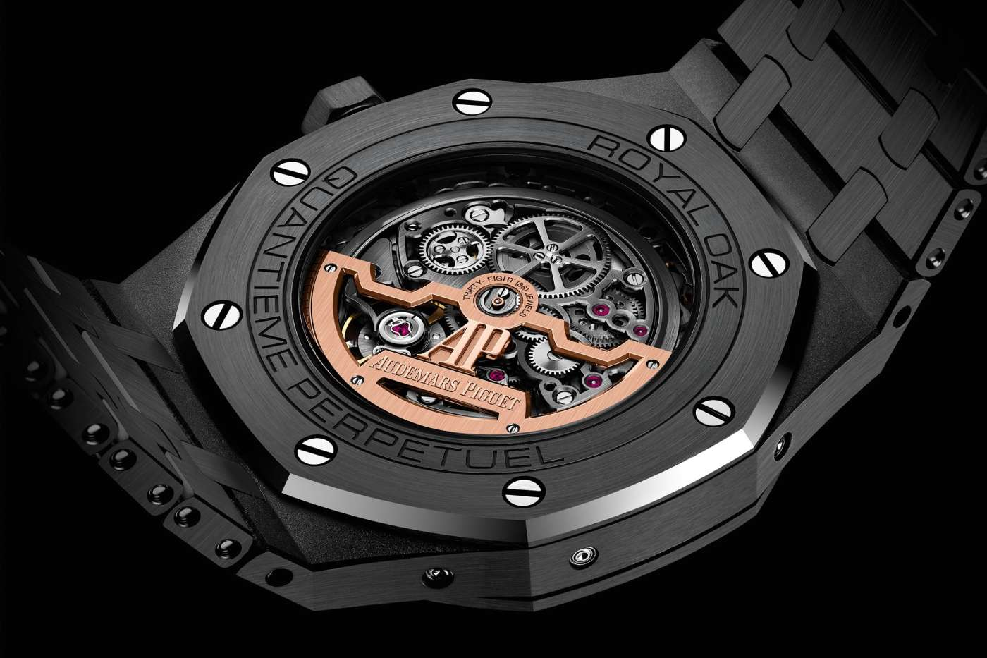 Audemars Piguet Royal Oak Perpetual Calendar Openworked Black Ceramic caseback