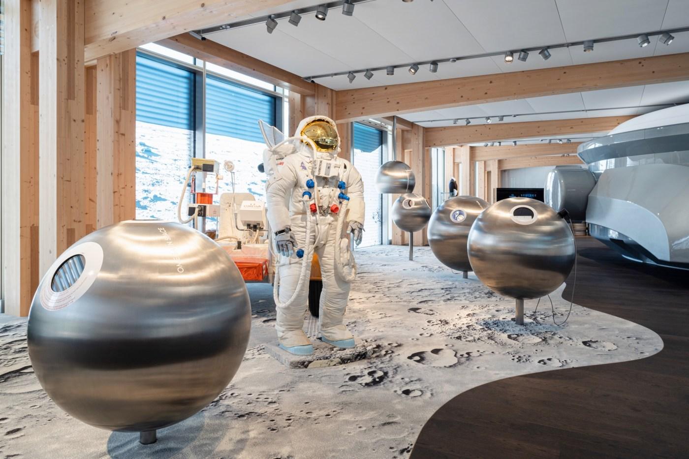 Omega Museum Space exhibit