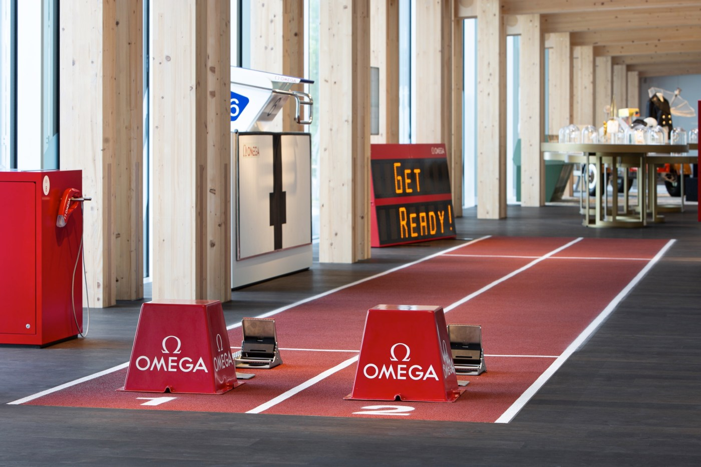 Omega museum indoor track