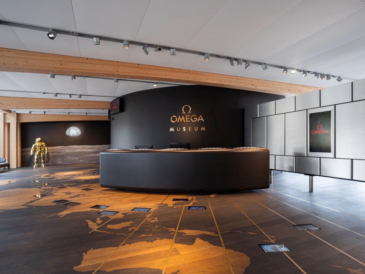 Omega museum entrance in Biel/Bienne