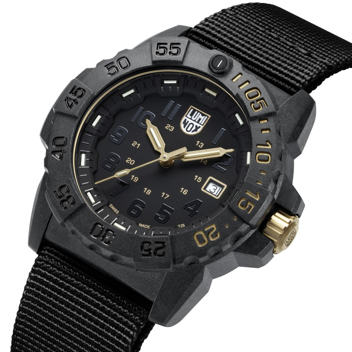 Luminox Navy Seal 3500 Gold angle