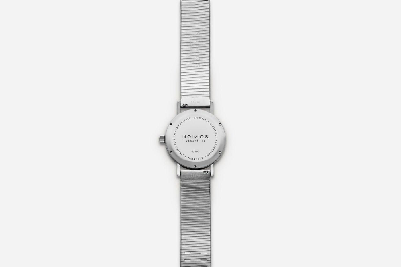 Nomos Tangente Sport Chronometer for Hodinkee caseback