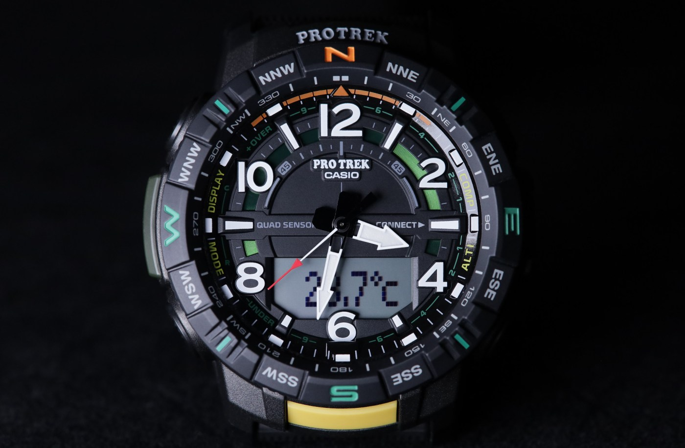 Casio Pro Trek PRT-B50 dial detail