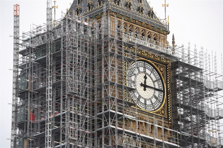 Elizabeth Tower housing Big Ben with scaffolding