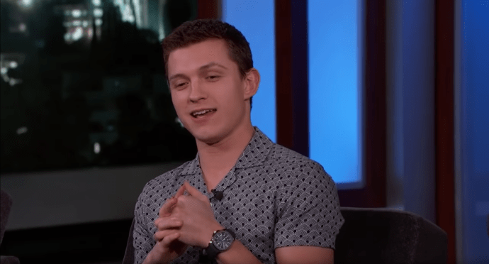 Tom Holland wore a Patek Philippe Aquanaut on Jimmy Kimmel Live
