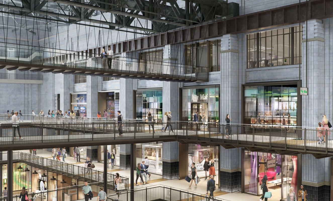 Battersea Power Station interior rendering