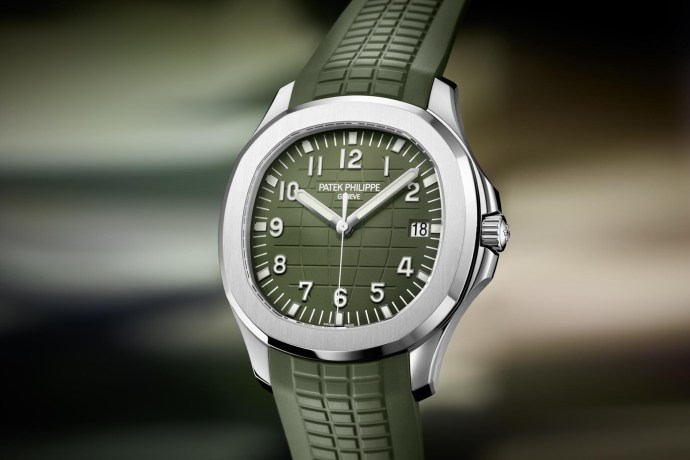 Patek Philippe Aquanaut 42mm White Gold Khaki Green 5168G Baselworld 2019