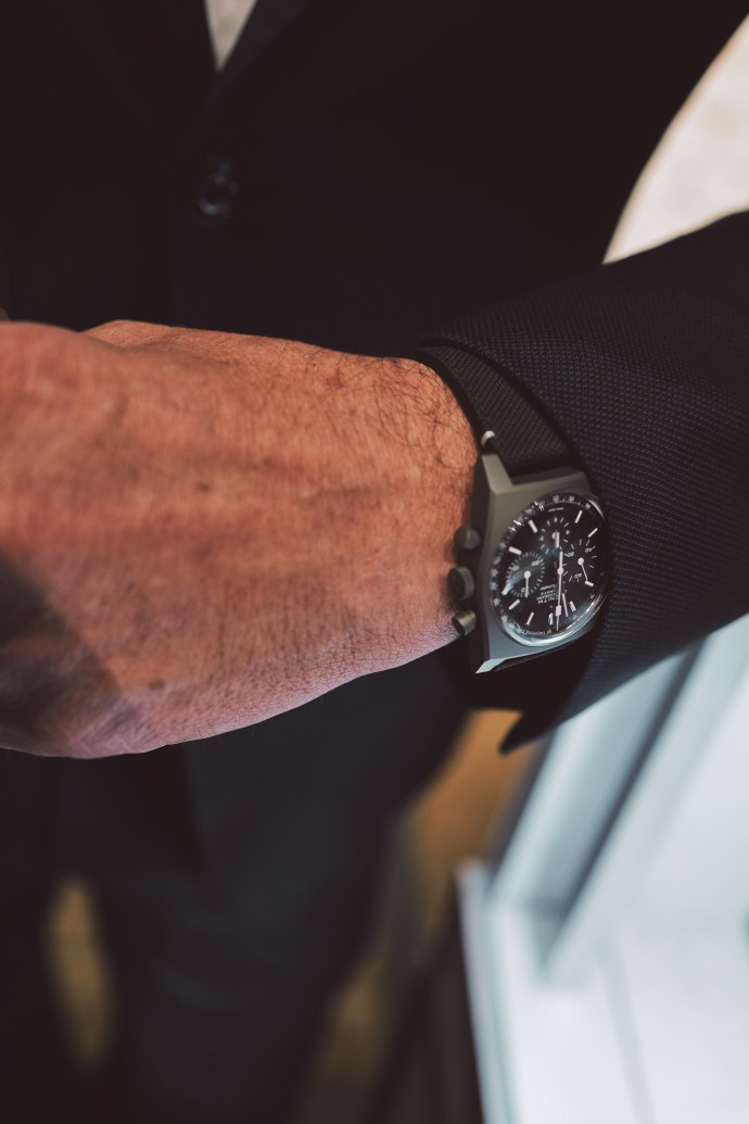 "Chronomaster Revival ""Shadow"" on Zenith CEO Julien Tornare's wrist"