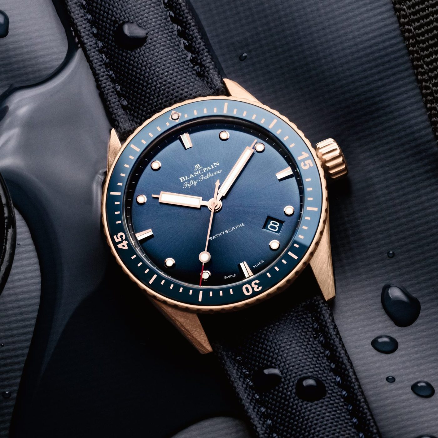 Fifty Fathoms Bathyscaphe in Sedna Gold