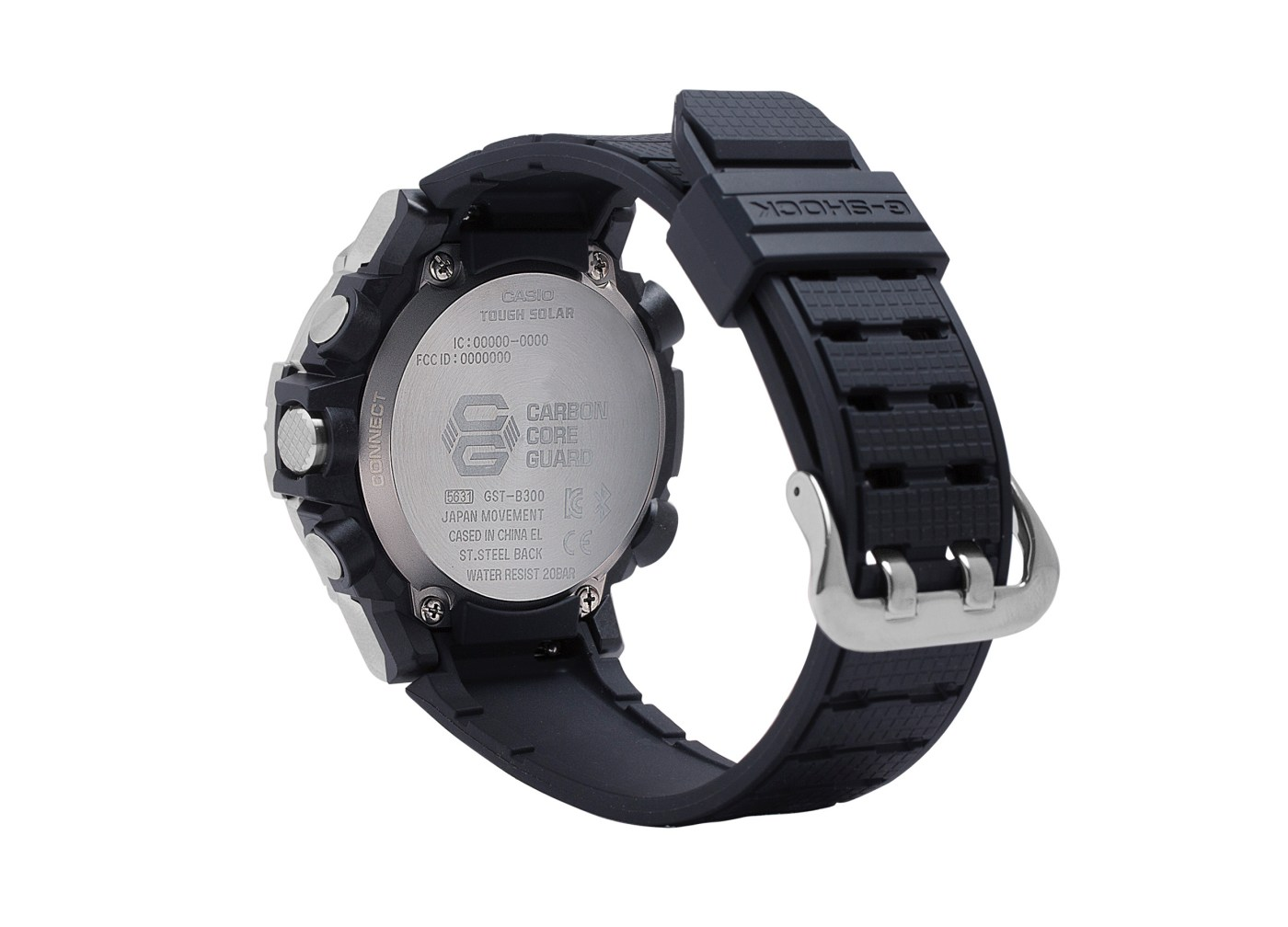 G-Shock G-Steel GSTB300S-1A side caseback view