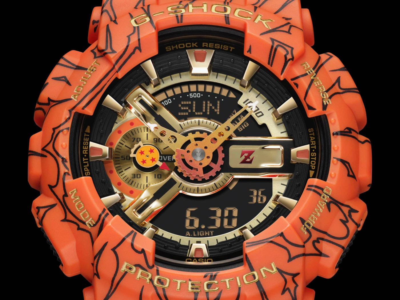G-Shock x Dragon Ball Z GA110JDB-1A4