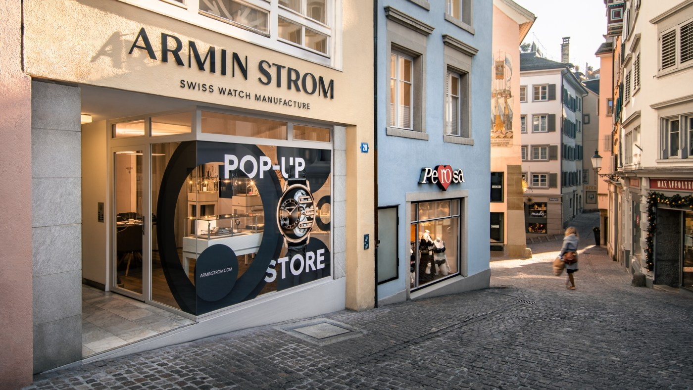 Armin Strom Zurich Pop-Up street view