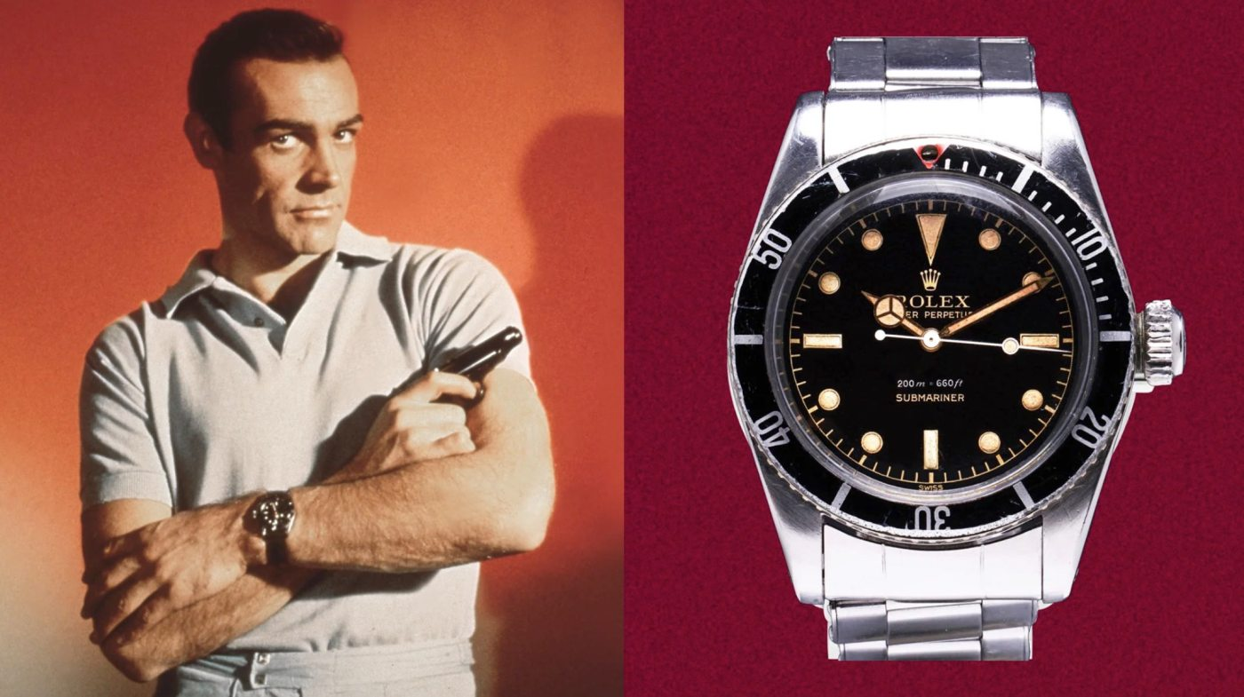 Sean Connery wearing Rolex Submariner 6538