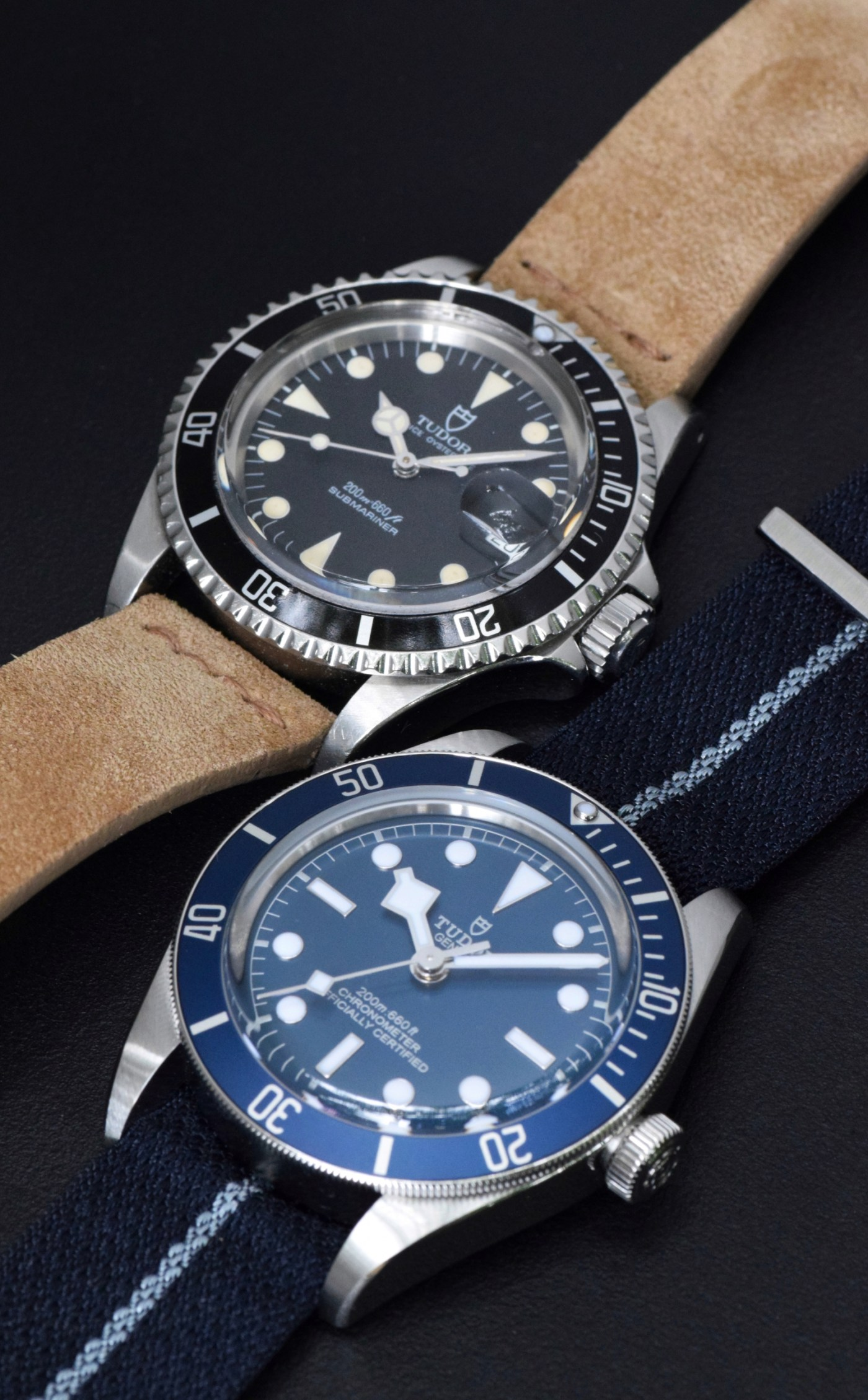 Tudor Black Bay Fifty-Eight Navy Blue Ref. 79030B vs. 1992 Tudor Submariner Ref. 79090
