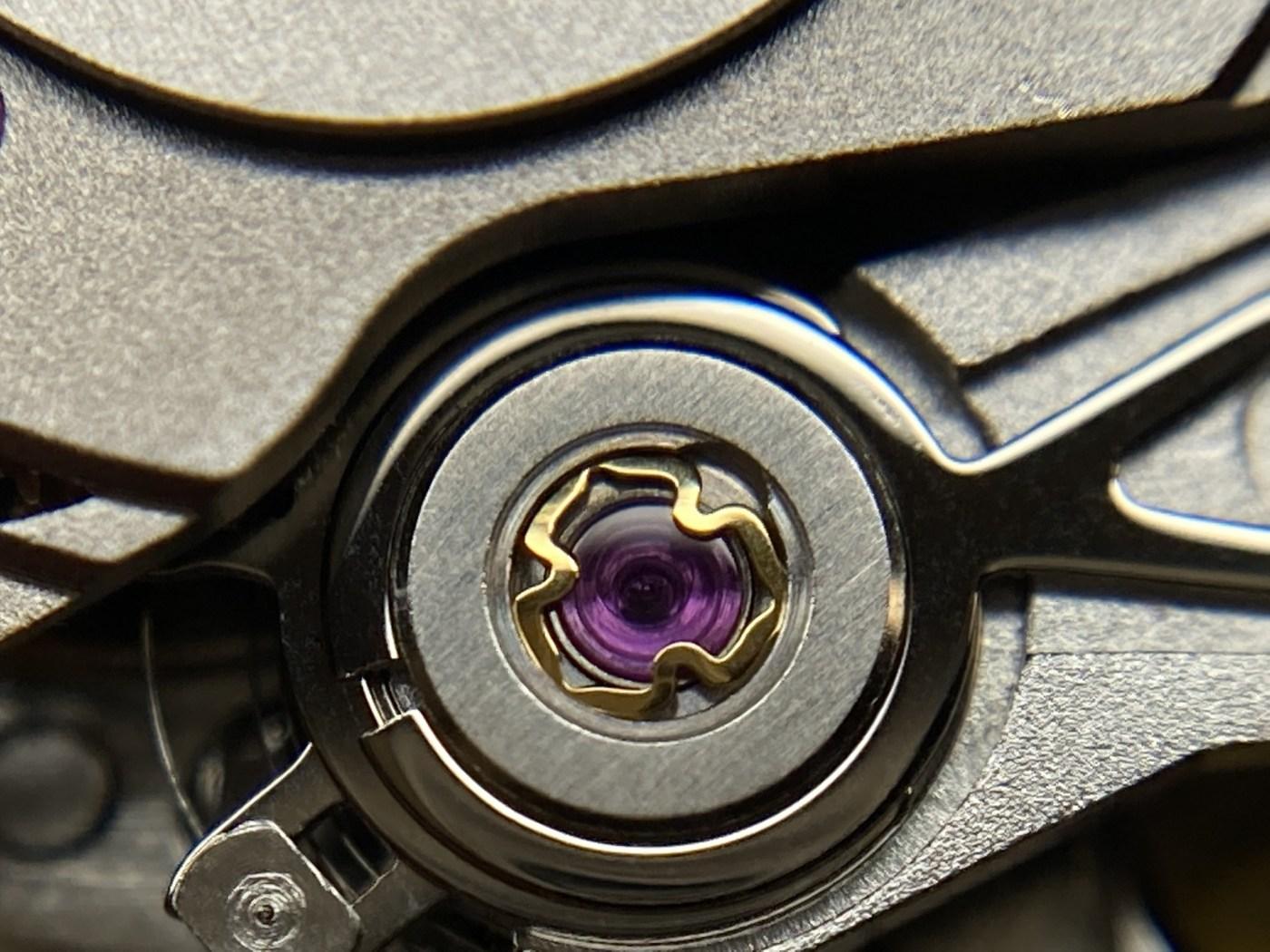 Balance jewels from a Swiss Tech Caliber S24