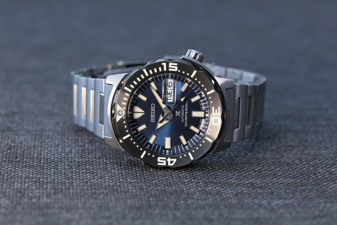 Seiko Prospex Ref SRPD25 Monster Automatic Diver front side