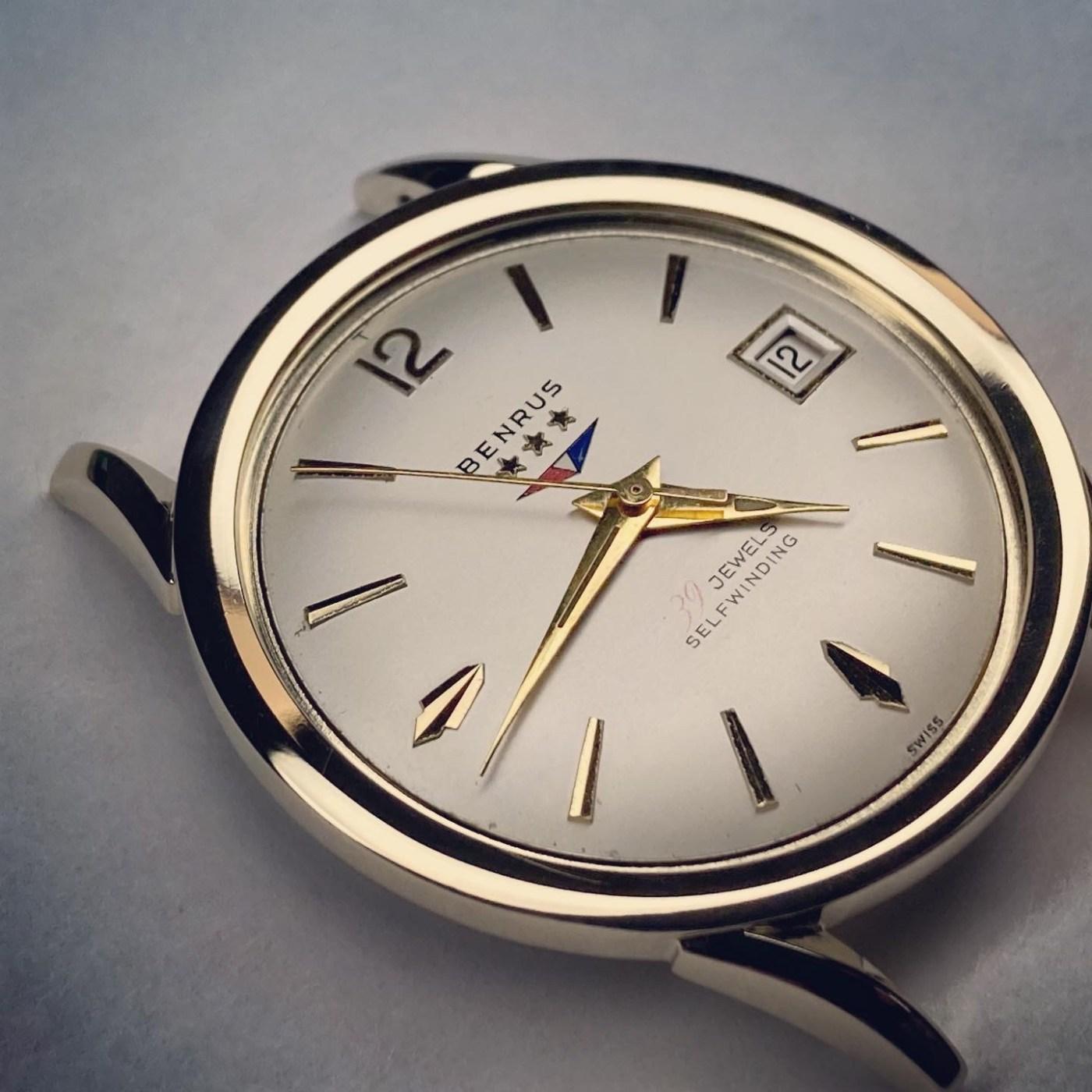 Vintage Benrus 39 Jewel watch head