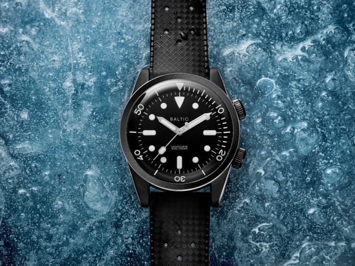 Baltic Aquascaphe Dual-Crown Black PVD Steel