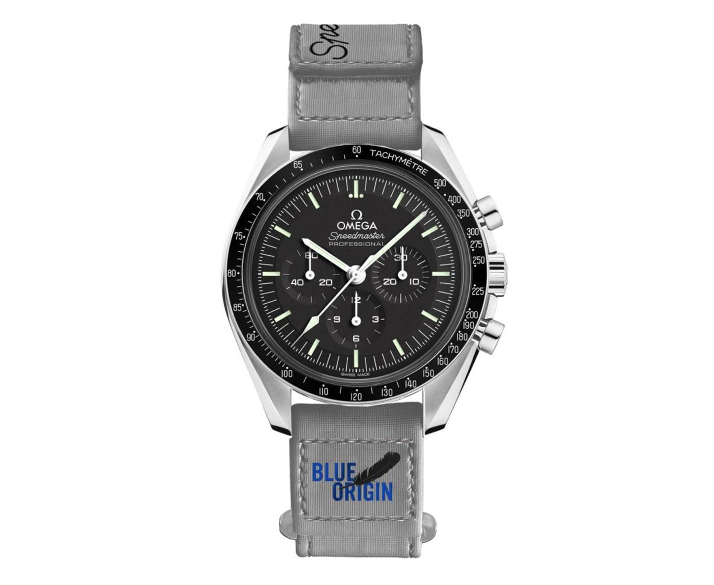 Omega Speedmaster Moonwatch Professional Master Chronometer Blue Origin