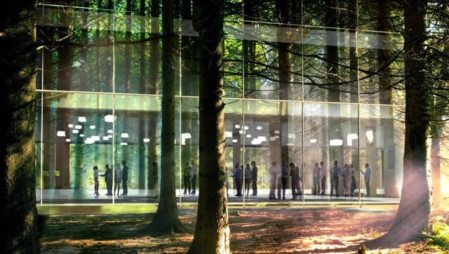 Un edificio bioclimatico in legno e vetro per lIPES di Bolzano  Rispetto per il contesto e