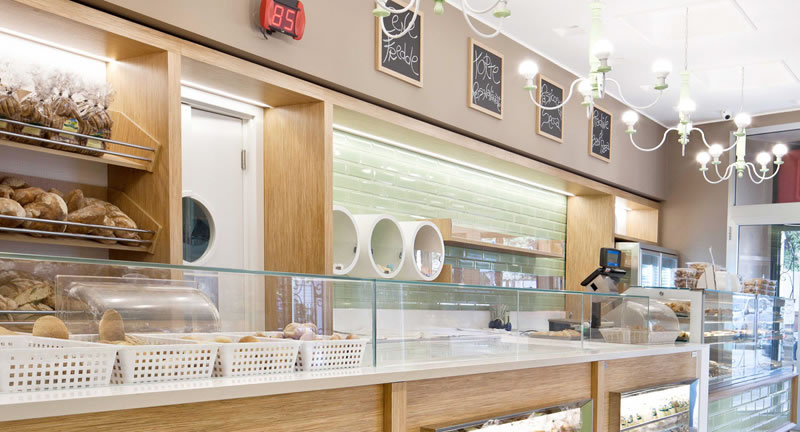 arredamento bar pasticceria su misura di design italiano e massima professionalità per arredo bar pasticceria su misura: Officine 900 Arredamento Bar Su Misura P A Design