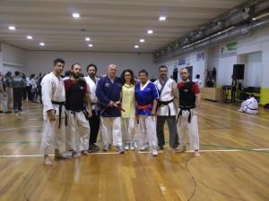 Il team Kaisendo Italia con il gran master Juan Diaz al Budo Masters 2016